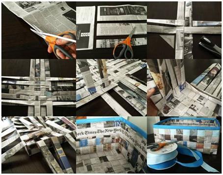 C mo hacer una cesta con papel peri dico viviendo en la tierra - Hacer cestas con papel de periodico ...