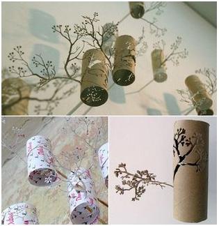 Qu hacer con los rollos del papel higi nico parte i - Rollos de papel higienico decorados ...