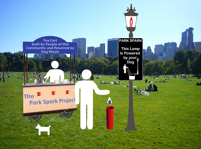 Heces de perro sirven para iluminar un parque en ee uu for Como iluminar un parque