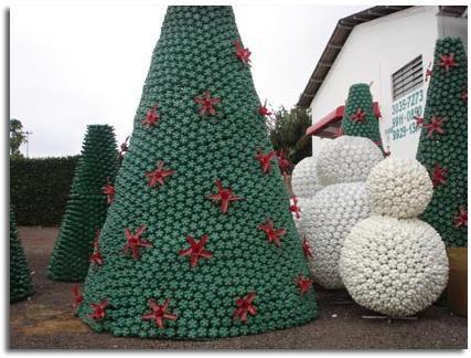 Navidad verde rboles de navidad hechos de materiales - Arbol de navidad hecho en casa ...