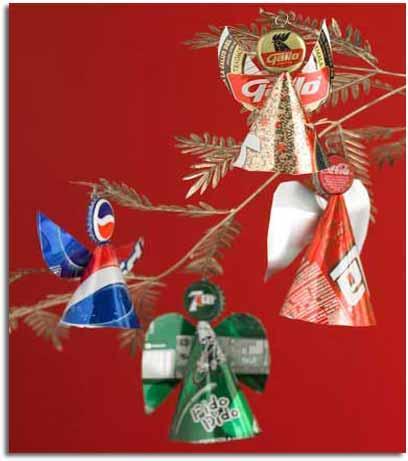 Navidad verde adornos navide os con material reciclado - Adornos para la casa con reciclaje ...