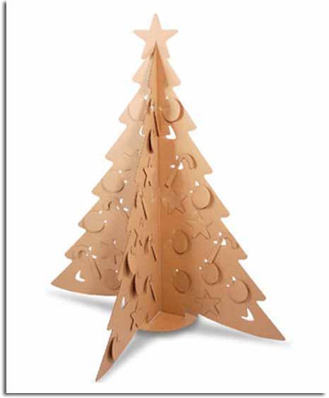 Navidad verde rbol hecho de cart n reciclado viviendo - Arbol de navidad hecho en casa ...