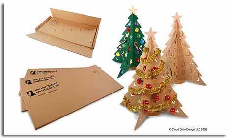 Navidad verde rbol hecho de cart n reciclado viviendo - Arbol de navidad hecho de luces ...
