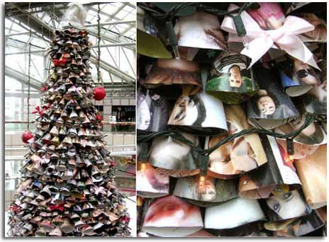 Noticias del reciclaje campa a reciclaje vida - Arboles de navidad de diferentes materiales ...