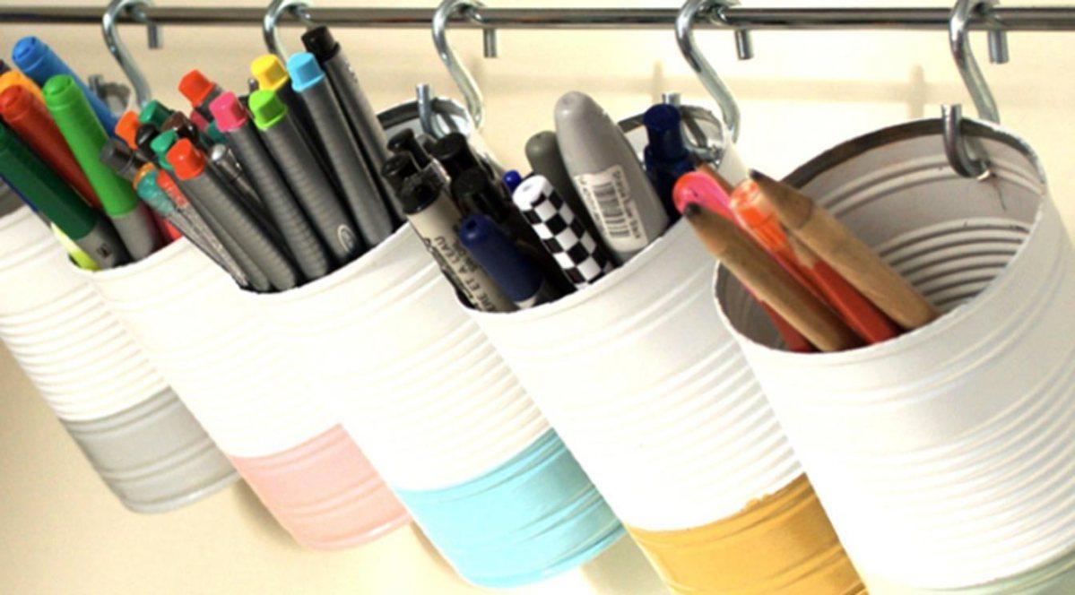 10 ideas para organizar tus espacios ¡con latas!